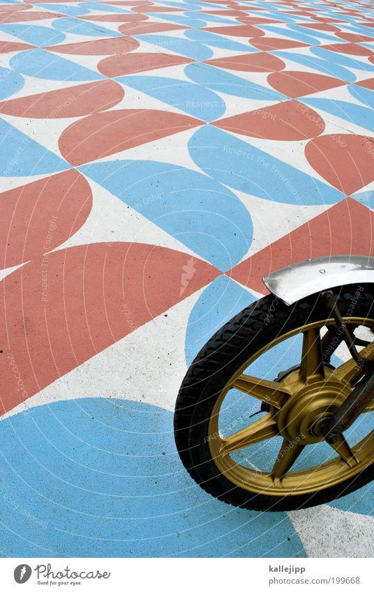 satellite Lifestyle Stil Design Freizeit & Hobby Verkehrsmittel Verkehrswege Personenverkehr Fahrzeug Motorrad Kleinmotorrad Ornament Muster rund Reifen Rad