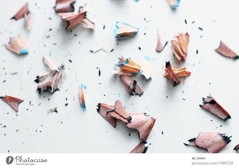 Angespitzt blau Farbe weiß Stil Holz Kunst braun Design hell Freizeit & Hobby liegen Ordnung ästhetisch authentisch Kreativität Spitze