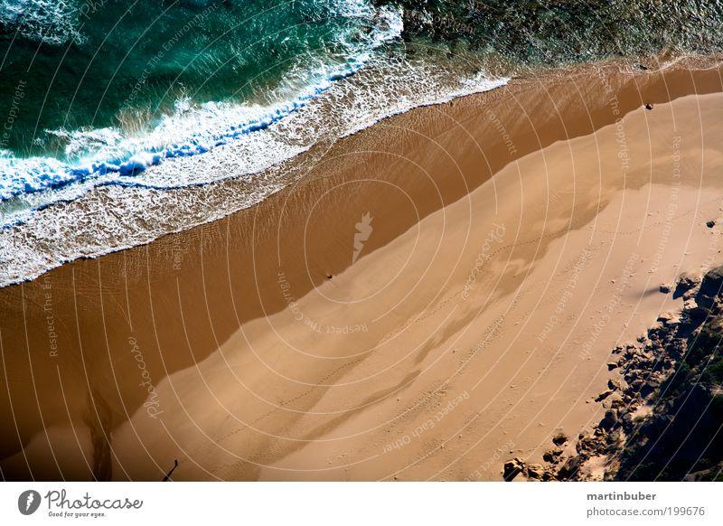 küstenlinie Natur Wasser schön Meer grün Strand Ferien & Urlaub & Reisen ruhig gelb Erholung Sand Zufriedenheit Wellen Küste Hintergrundbild Romantik
