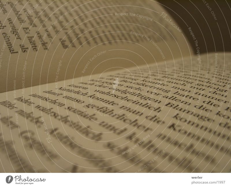 Buch Papier Dinge Seite Typographie