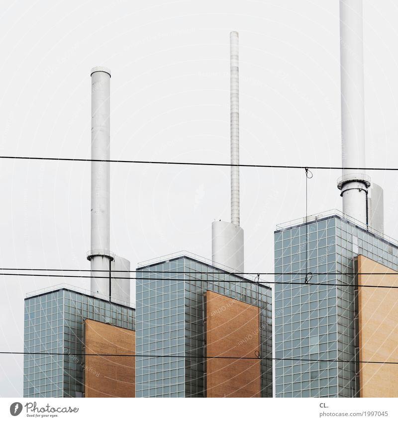 heizkraftwerk linden Fabrik Wirtschaft Industrie Energiewirtschaft Heizkraftwerk Hannover Industrieanlage Bauwerk Architektur Schornstein Umweltverschmutzung
