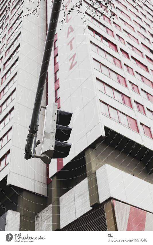 ...platz Hannover Stadt Stadtzentrum Hochhaus Platz Gebäude Architektur Mauer Wand Fassade Fenster Verkehr Verkehrswege Straßenverkehr Ampel Schriftzeichen
