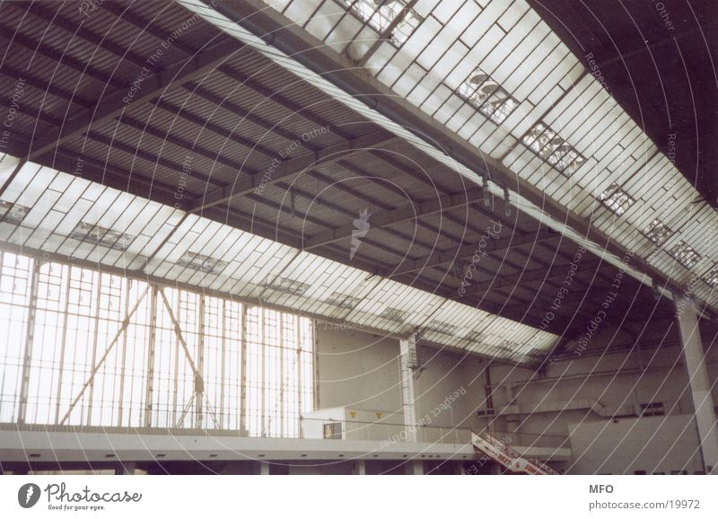 Messehalle / Dachkonstrukt Architektur Industriefotografie Dach Konstruktion Messehalle Verstrebung