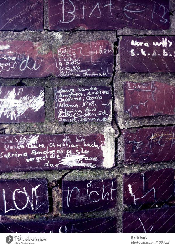 LOVE nicht Lifestyle Design Häusliches Leben Bildung Schulgebäude Schulhof Studium Werbebranche Kunst Kultur Jugendkultur Subkultur Medien Haus Bauwerk Mauer