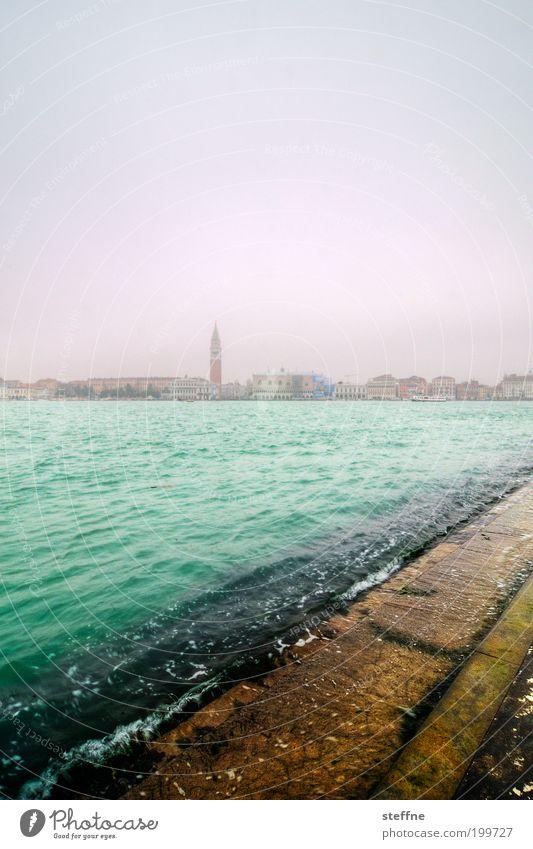 Campanile Wasser schön Meer Stadt Wellen Küste Italien Skyline Venedig Altstadt Hafenstadt Dogenpalast San Marco Basilica Campanile San Marco