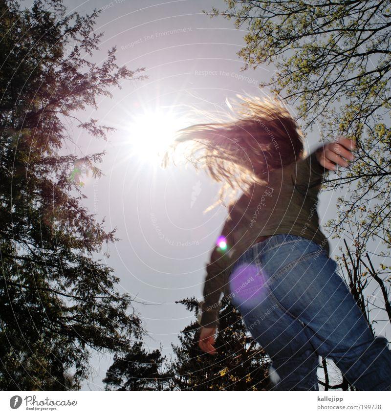 hip hop Mensch Kind Himmel Natur Baum Pflanze Sonne Mädchen Freude Umwelt Leben Spielen springen Luft Wetter Kindheit