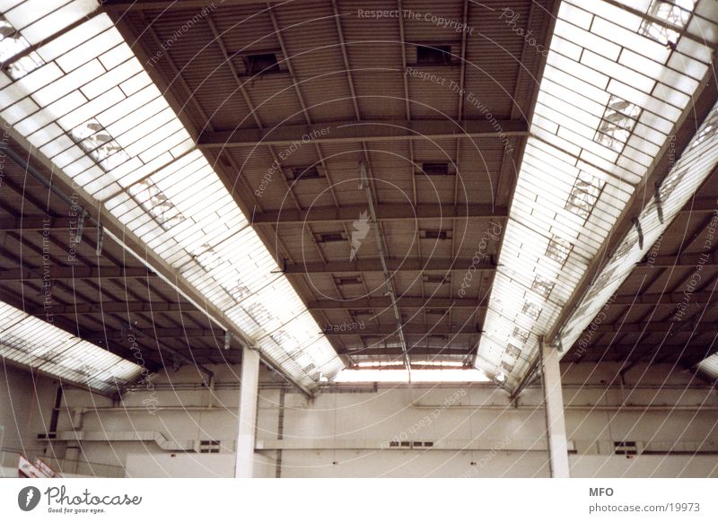 Messehalle / Dachkonstrukt Konstruktion Verstrebung Architektur Industriefotografie