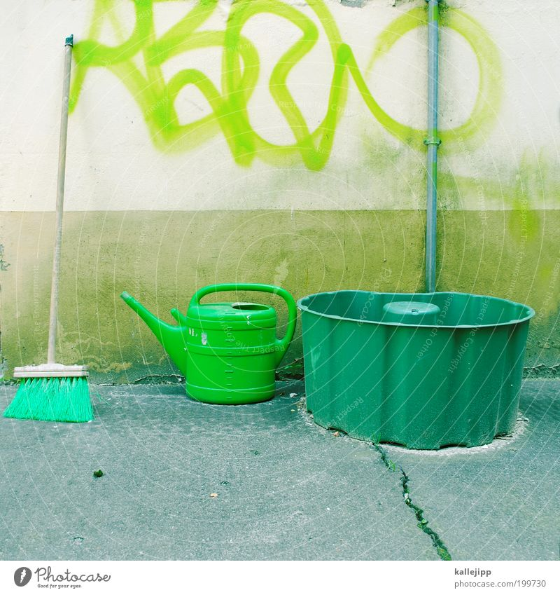 frühjahrsputz grün Haus Arbeit & Erwerbstätigkeit Wiese Frühling Garten Graffiti Lifestyle Freizeit & Hobby Beruf Häusliches Leben Reinigen Baustelle Renovieren