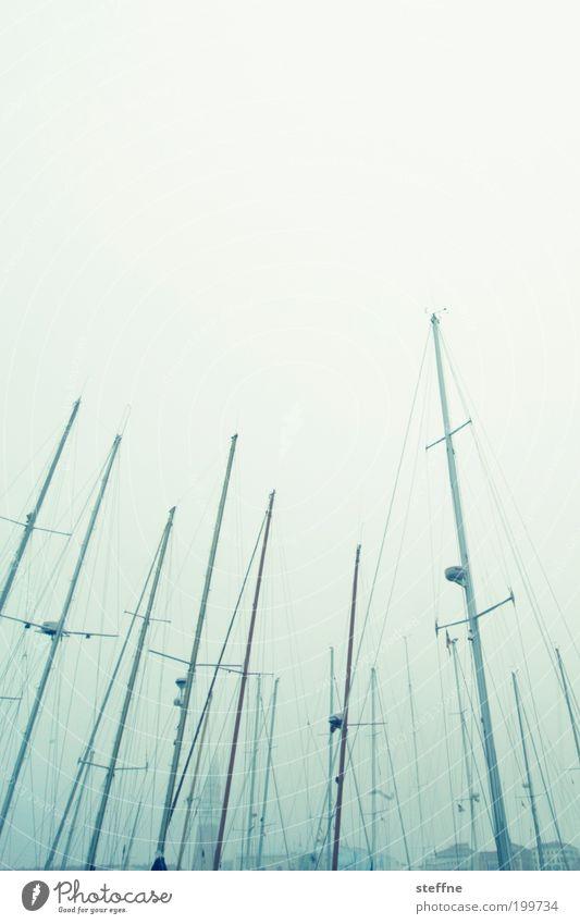 Ankerplatz vor Traumkulisse ruhig Italien Anlegestelle Schifffahrt Segelboot Venedig Dunst Mast Jacht Fischerboot Jachthafen Campanile San Marco