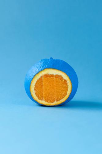 farbfood blau Farbe Gesunde Ernährung Gesundheit Kunst außergewöhnlich Lebensmittel orange Design Frucht Orange ästhetisch Kreativität verrückt einzigartig