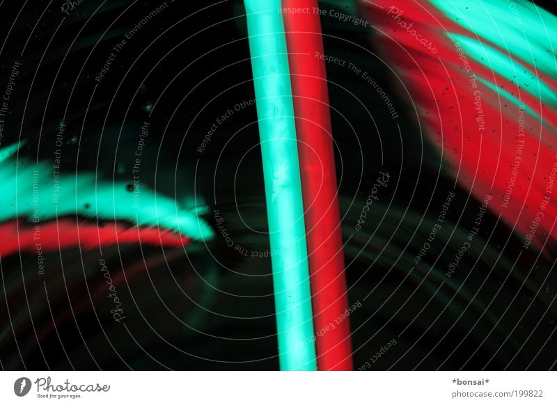 lights III Dekoration & Verzierung Linie glänzend leuchten fest Flüssigkeit Kitsch dünn blau grün rot schwarz Design Energie Farbe Idee Knicklicht Leuchtkörper