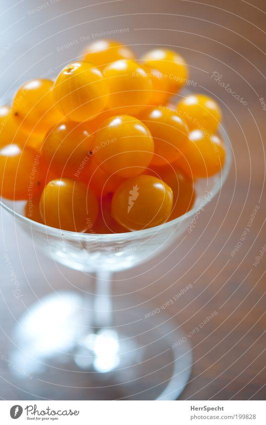Die vermutlich kleinsten Tomaten der Welt Ernährung gelb braun orange glänzend Glas Lebensmittel frisch Gemüse saftig winzig Likörglas