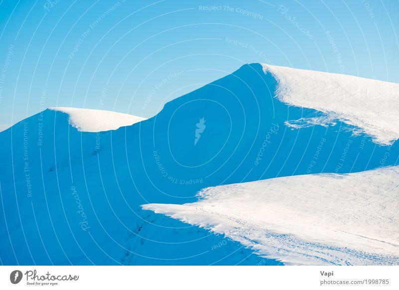 Winter Berge Landschaft schön Ferien & Urlaub & Reisen Tourismus Sonne Schnee Winterurlaub Berge u. Gebirge Natur Himmel Wolkenloser Himmel Sonnenlicht