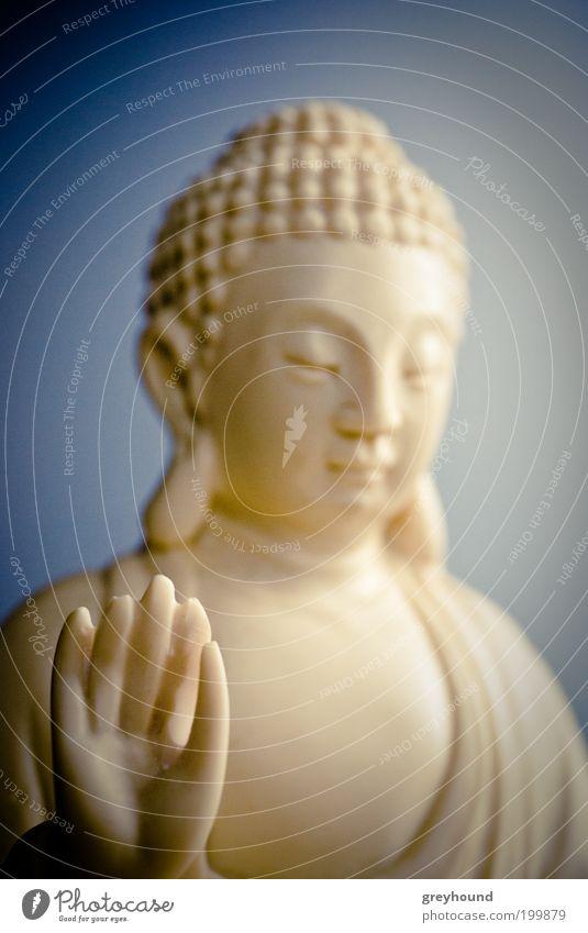 Little Buddha weiß ruhig Religion & Glaube sitzen Gelassenheit Freundlichkeit Meditation Skulptur exotisch Vorsicht Weisheit Statue Buddhismus