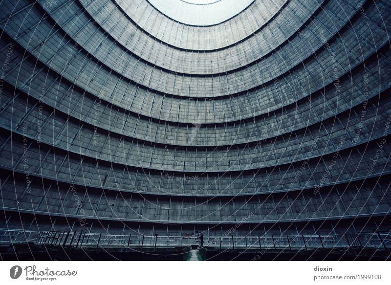 inside the cooling tower [10] Energiewirtschaft Kernkraftwerk Kohlekraftwerk Industrie Menschenleer Turm Bauwerk Gebäude Architektur Kühlturm Mauer Wand