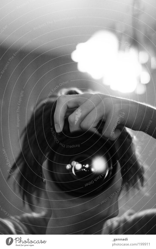 Zyklop Mensch Mann weiß schwarz Erwachsene Kopf Lampe Fotografie maskulin Fotokamera 18-30 Jahre erleuchten Fotografieren Objektiv Junger Mann