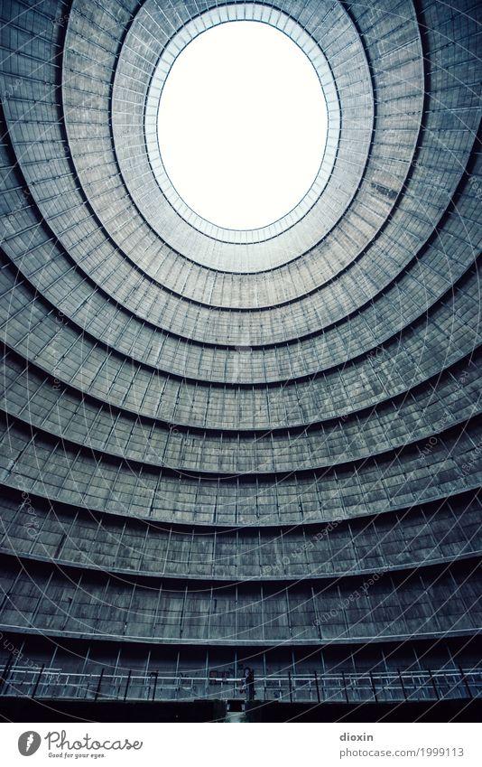 inside the cooling tower [3] alt Stadt Architektur Gebäude außergewöhnlich Energiewirtschaft authentisch groß hoch Industrie rund Bauwerk Fabrik Verfall