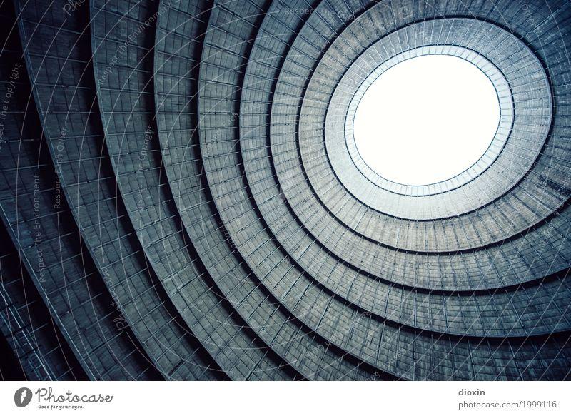 inside the cooling tower [5] alt Stadt Architektur Gebäude außergewöhnlich Energiewirtschaft authentisch groß hoch Industrie Turm rund Bauwerk Fabrik Verfall