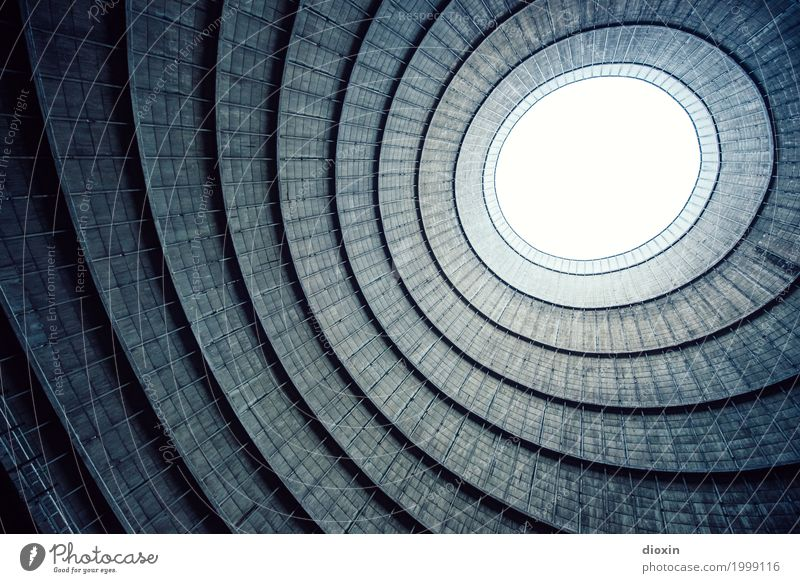 inside the cooling tower [5] Energiewirtschaft Kernkraftwerk Kohlekraftwerk Industrie Menschenleer Industrieanlage Fabrik Turm Bauwerk Gebäude Architektur