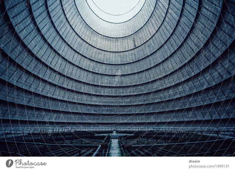 inside the cooling tower [1] Energiewirtschaft Kohlekraftwerk Bauwerk Architektur Kühlturm außergewöhnlich Coolness gigantisch hoch Endzeitstimmung Perspektive