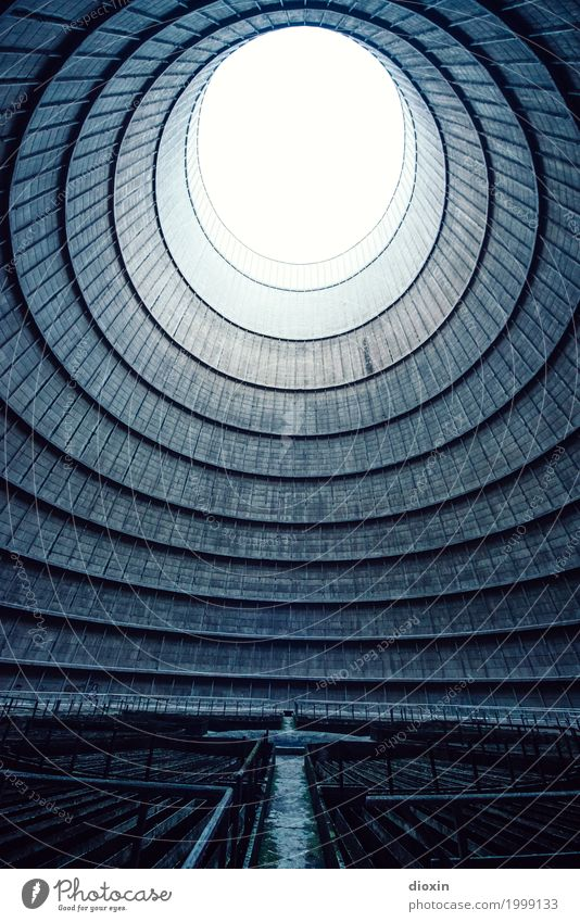 inside the cooling tower [12] Energiewirtschaft Kernkraftwerk Kohlekraftwerk Energiekrise Menschenleer Turm Bauwerk Architektur Kühlturm gigantisch groß hoch