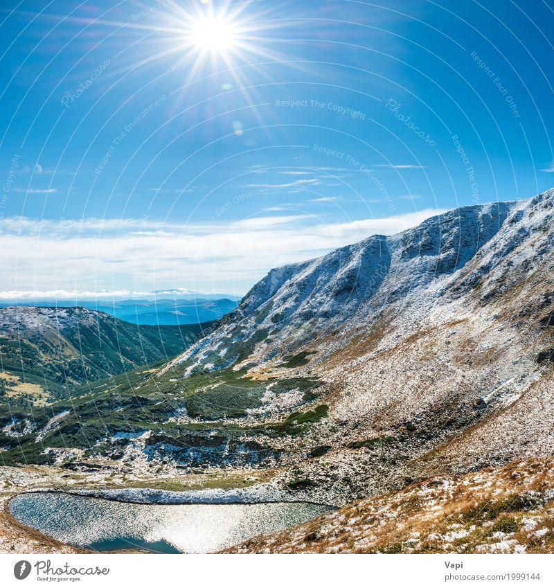 Himmel Natur Ferien & Urlaub & Reisen blau Sommer grün Wasser weiß Sonne Landschaft Wolken Winter Wald Berge u. Gebirge gelb Frühling