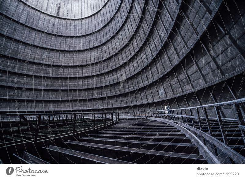 inside the cooling tower [4] alt Stadt Architektur Gebäude außergewöhnlich Energiewirtschaft authentisch groß hoch Industrie rund Bauwerk Fabrik Verfall