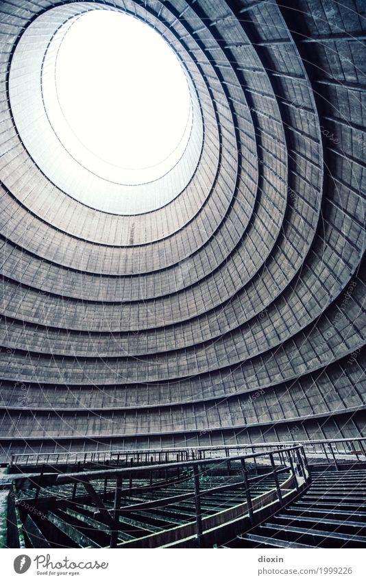inside the cooling tower [9] Stadt Architektur Wand Gebäude Mauer außergewöhnlich Energiewirtschaft groß hoch Industrie Turm Bauwerk Verfall gigantisch