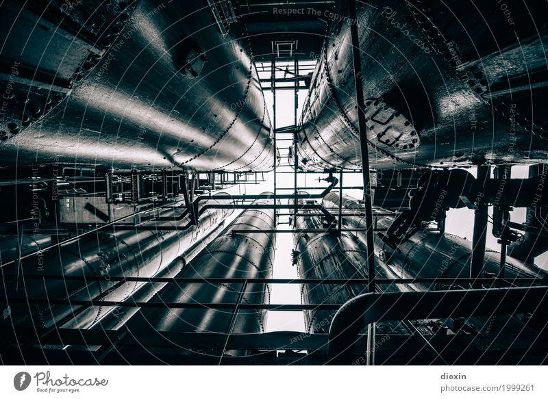 industrial decay [2] Energiewirtschaft Kohlekraftwerk Industrie Industrieanlage Fabrik Metall Stahl Kreuz alt dreckig gigantisch glänzend groß kalt Stadt