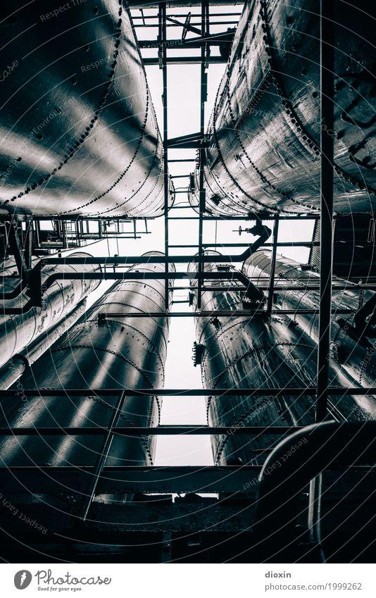 industrial decay [3] alt Stadt Architektur kalt außergewöhnlich Metall dreckig Energiewirtschaft authentisch hoch bedrohlich Industrie Verfall Fabrik Kreuz