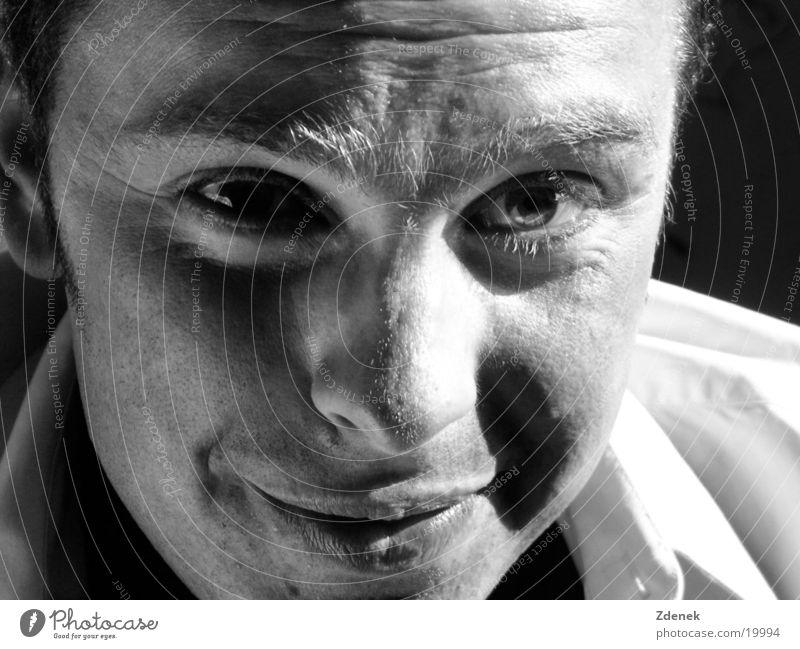 Rückblick in alte Zeit Mann Auge Denken elegant sensibel zeitlos Porträt