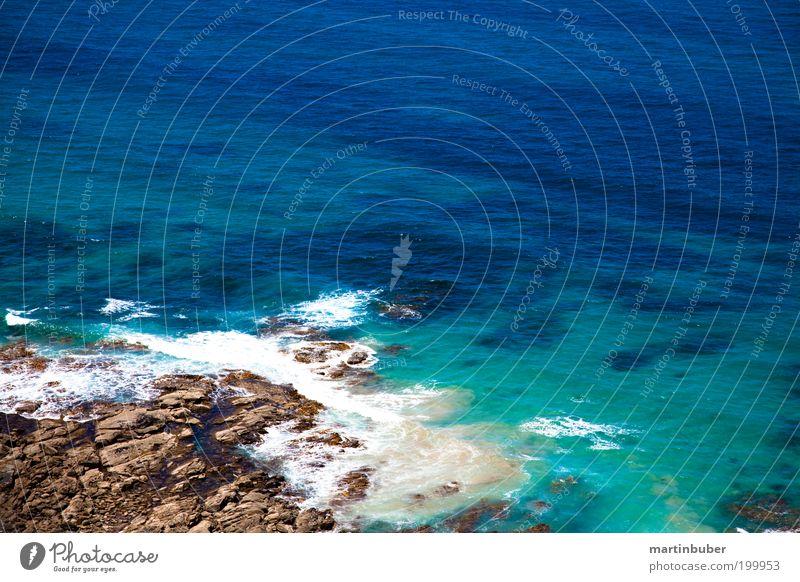 brandung Landschaft Sommer Küste Riff Meer Australien Menschenleer Stein Wasser Erholung frei blau grün Zufriedenheit Einsamkeit Ferien & Urlaub & Reisen