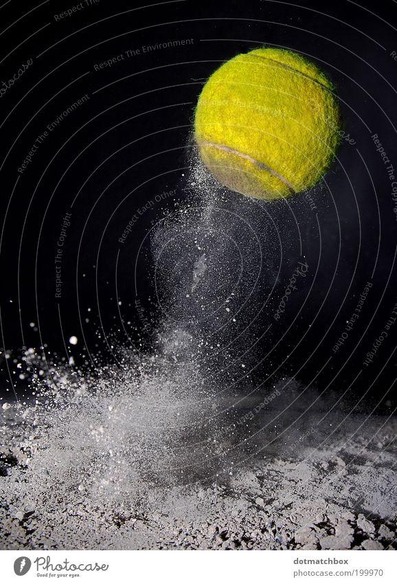 Island Open gelb Sport springen Ball Tennis Staub Ballsport staubig Tennisball