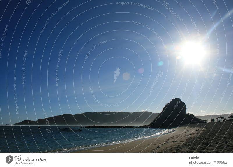 sun, fun and nothing to do Umwelt Natur Landschaft Sand Luft Wasser Himmel Wolkenloser Himmel Sommer Wetter Schönes Wetter Strand Bucht Meer Insel Lombok