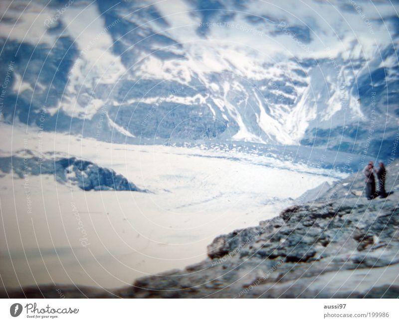 S.P.E.C.T.R.E Natur Winter Schnee Berge u. Gebirge Wege & Pfade Landschaft wandern Ausflug aufsteigen Gletscher Vulkan Abstieg Vulkankrater