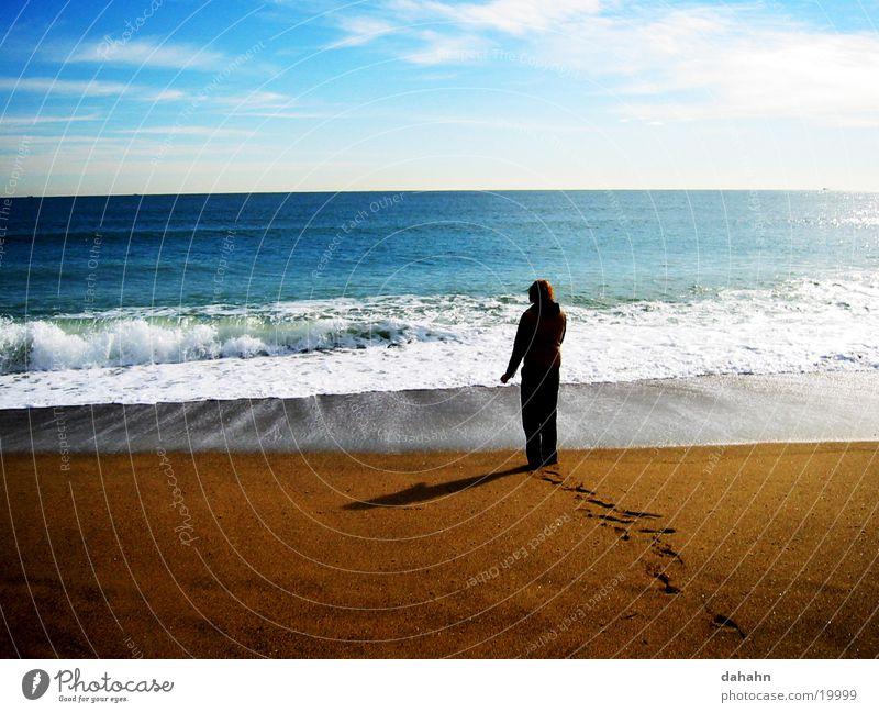 The Beach Strand Meer See Sonnenuntergang Wellen Europa Sand