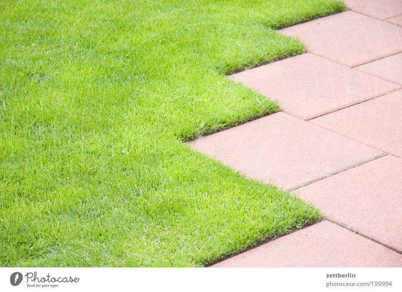 Rasenkante Wiese Gras Garten Wege & Pfade Linie Ordnung Wachstum Rasen Sportrasen Fliesen u. Kacheln Grenze Bürgersteig Geometrie Teppich Gegenteil Sportplatz