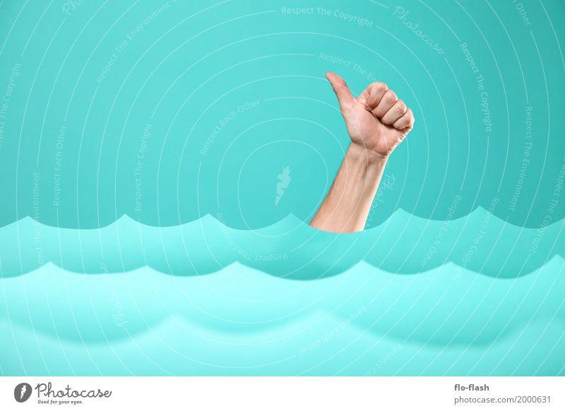 TIDENHUB II Mensch Ferien & Urlaub & Reisen blau Meer Kunst Gesundheitswesen Business Schwimmen & Baden Design Wellen Erfolg Abenteuer Papier Studium Ostsee