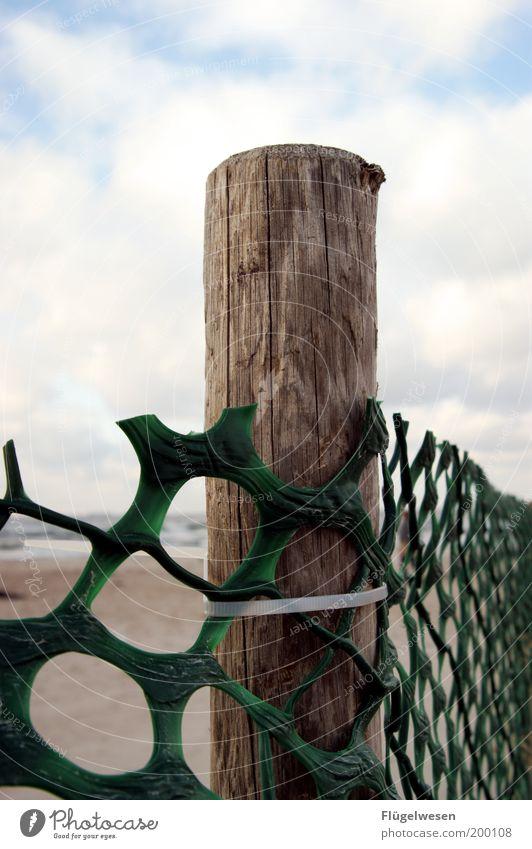 Das Öl kommt! Himmel Natur Strand Ferne Umwelt Küste Wetter Wellen Angst Klima Schutz Todesangst Unwetter Zaun Grenze Bucht