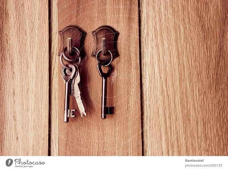 Schlüsseldienst Häusliches Leben braun Sicherheit Haken Flur Schlüsselbrett Paneele altmodisch Schlüsselboard hängend Hausschlüssel Zutritt Maserung Nostalgie