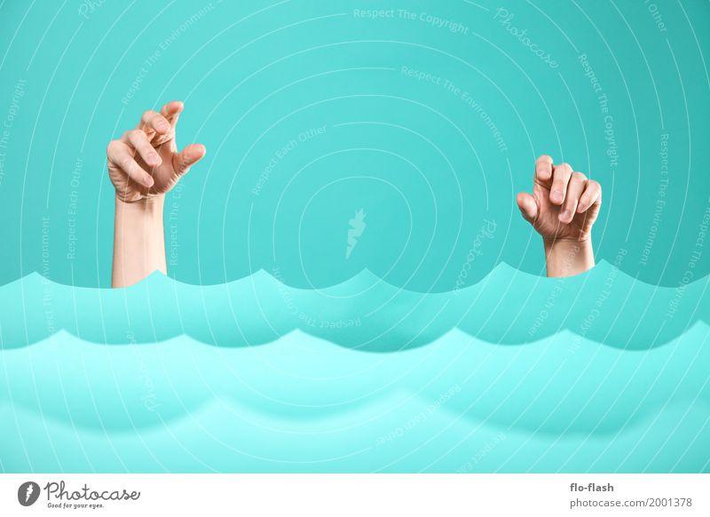 TIDENHUB VI Mensch Ferien & Urlaub & Reisen blau Freude Umwelt Küste Kunst Business Tourismus Schwimmen & Baden Design Wellen Erfolg nass kaufen Klima