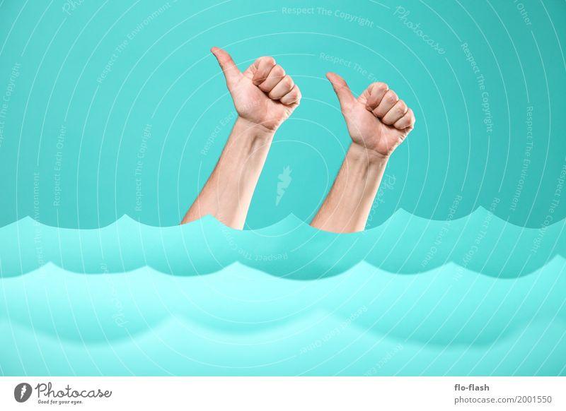 TIDENHUB V Mensch blau Wasser Meer Umwelt Kunst Business Schwimmen & Baden Design Freizeit & Hobby Kraft kaufen Klima Papier Studium Coolness