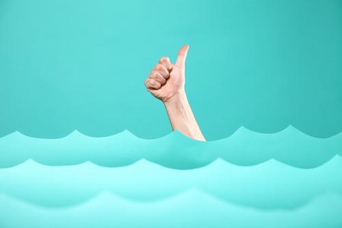 TIDENHUB IV Mensch blau Wasser Hand Meer Freude Umwelt Glück Kunst Business Schwimmen & Baden Design Zufriedenheit Kraft Erfolg kaufen