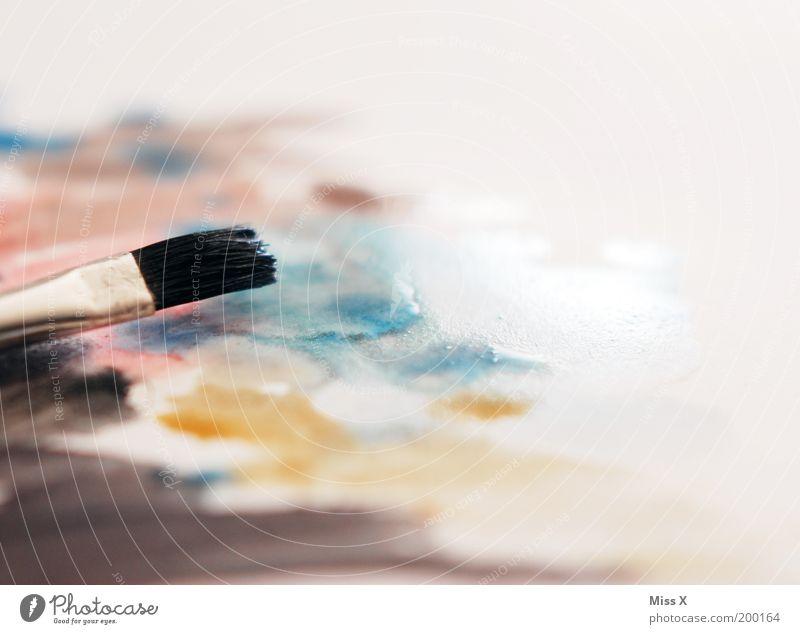 frisch gepinselt Freizeit & Hobby Basteln Renovieren Kunst Künstler Maler Kunstwerk Gemälde dreckig nass mehrfarbig Kreativität malen Pinsel Papier Aquarell