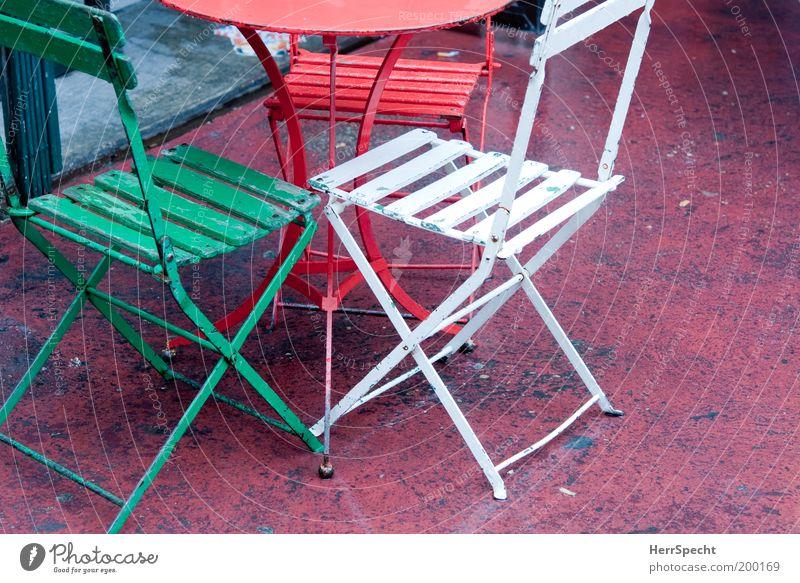 Italienertisch? weiß grün rot Garten Metall 3 Tisch Stuhl Möbel Symbole & Metaphern Italienisch Klappstuhl