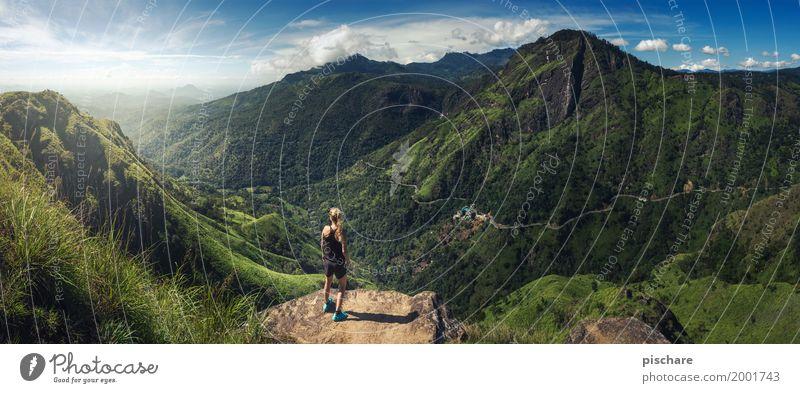 Little Adams Peak Mensch Frau Natur Ferien & Urlaub & Reisen Jugendliche Ferne 18-30 Jahre Berge u. Gebirge Erwachsene Gefühle feminin Freiheit Tourismus