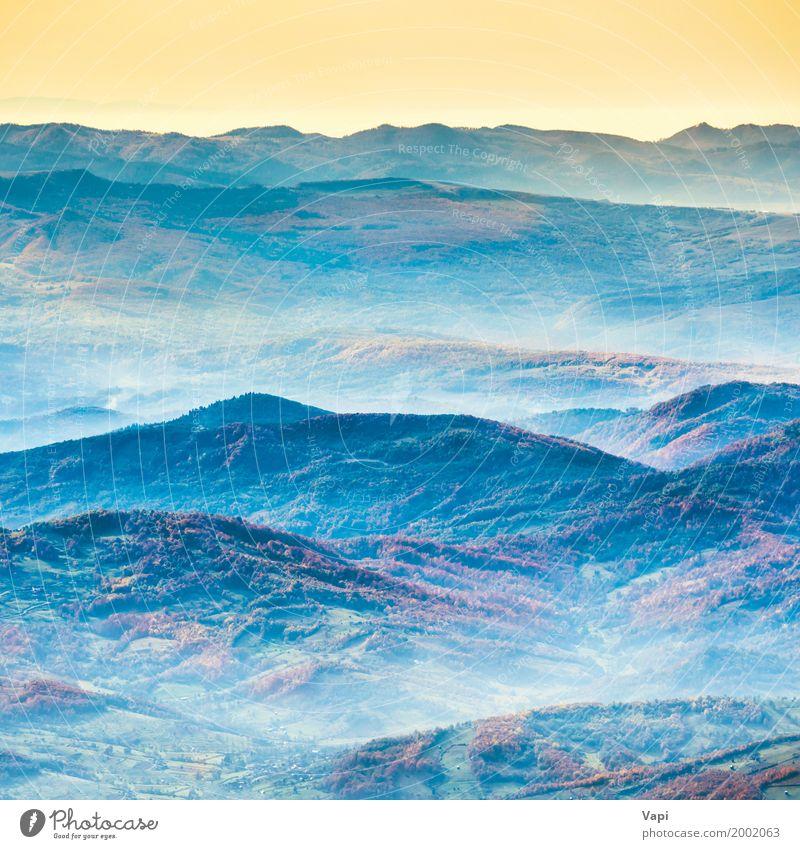 Himmel Natur Ferien & Urlaub & Reisen blau Sommer Farbe schön grün Sonne Baum Landschaft rot Ferne Wald Berge u. Gebirge schwarz