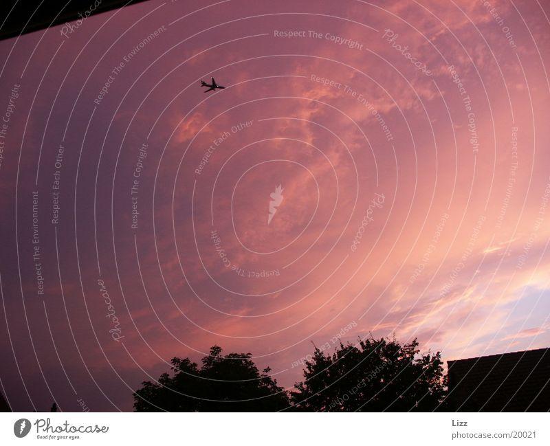 Flugzeug 2 Flugzeug Luftverkehr Gewitter dramatisch