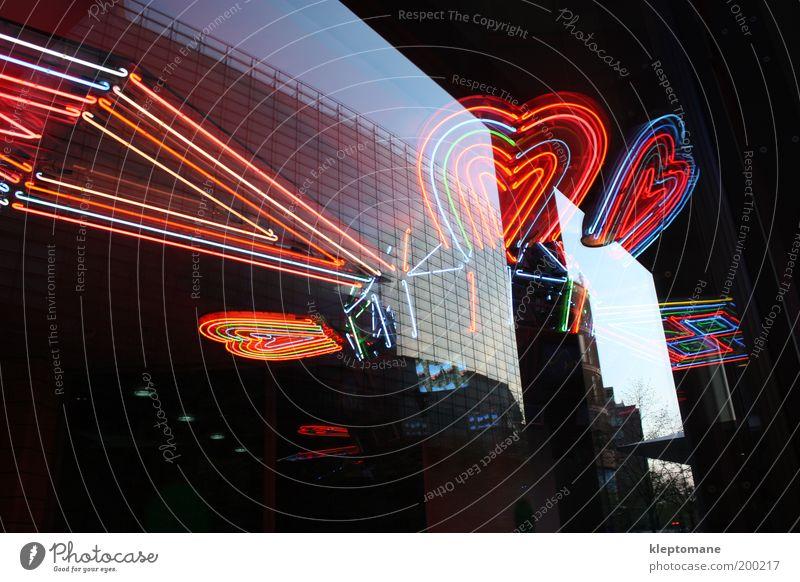 gerade linien verboten Stadt Architektur Glück Lampe Kunst Glas elegant Fassade Herz Design modern Dekoration & Verzierung leuchten Technik & Technologie