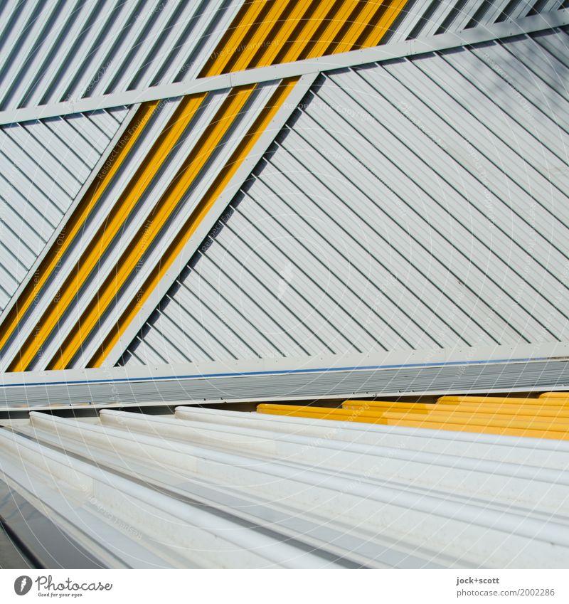 Lieber Linie × 2 Architektur Berlin Fassade Brandmauer Dekoration & Verzierung Metall Streifen Netzwerk ästhetisch eckig modern viele Stimmung Kraft Akzeptanz